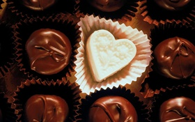 Chocolate, heart, love HD wallpaper