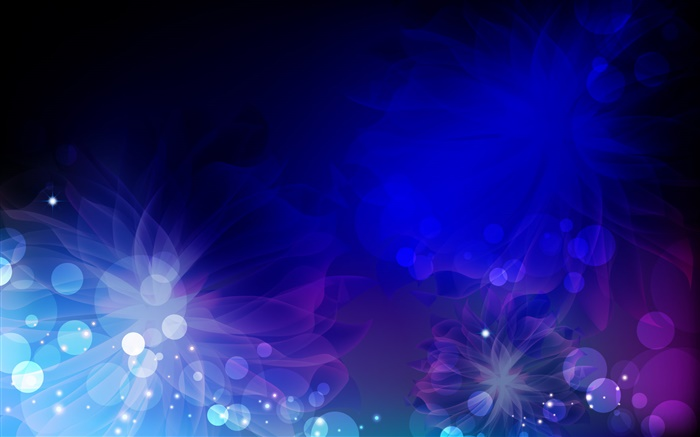 Circles, flowers, blue and purple, abstract pictures Wallpapers Pictures Photos Images