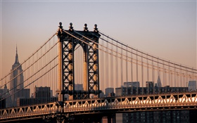 City of New York, USA, bridge HD wallpaper