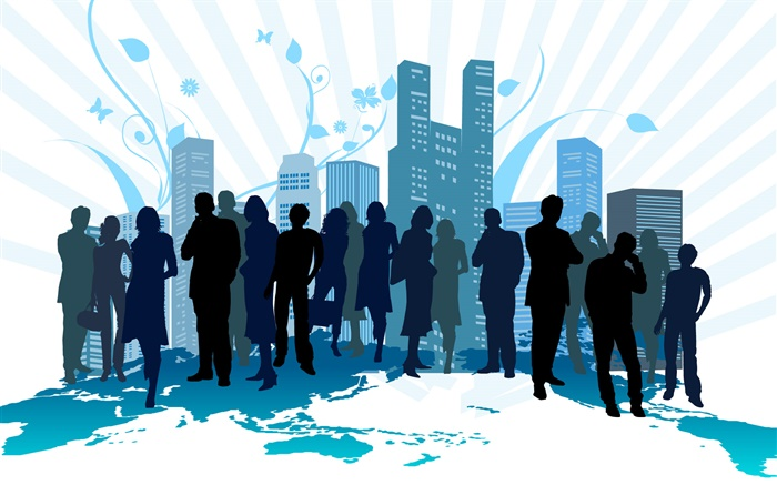 City, people, blue style, vector design pictures Wallpapers Pictures Photos Images