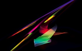Colorful, sign, black background, abstract design HD wallpaper