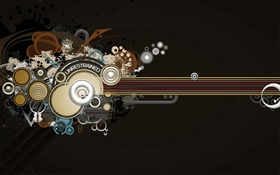 Creative design, vector, bass, music HD wallpaper