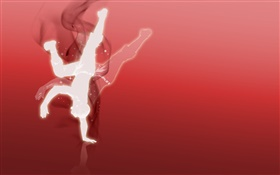 Creative design, vector, person, dance HD wallpaper