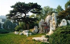 Diaoyutai, rockeries, park, Beijing China HD wallpaper