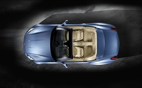Ferrari California 2008 blue car top view HD wallpaper