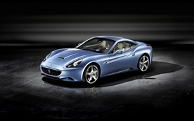 Ferrari California 2008 blue supercar HD wallpaper