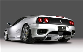 Ferrari F430 supercar back view HD wallpaper