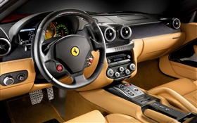 Ferrari F430 supercar cab close-up HD wallpaper