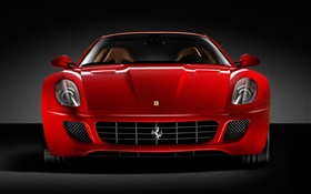 Ferrari red car front view HD wallpaper