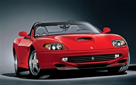 Ferrari red convertible car HD wallpaper