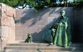 Franklin Delano Roosevelt, statue HD wallpaper