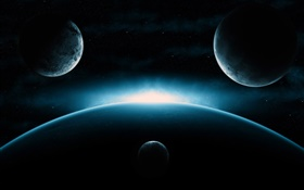 From the universe, planets, bright arrival HD wallpaper