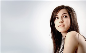 Girl look up HD wallpaper