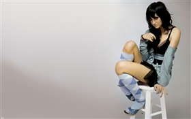 Girl sit at chair HD wallpaper