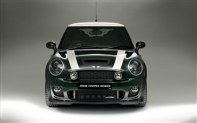 Green MINI car