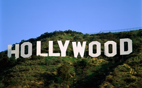 Hollywood logo in the slope