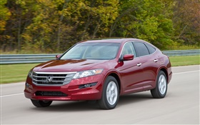 Honda Accord red car front view, speed HD wallpaper