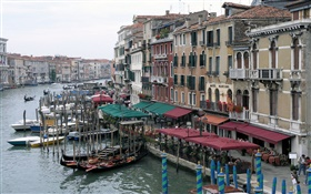 Italy, Venice, boats, river, houses
