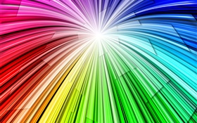 Light lines rainbow, abstract background HD wallpaper