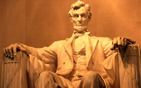 Lincoln Statue HD wallpaper