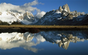 Los Glaciares National Park, Patagonia, Argentina, mountains, lake HD wallpaper
