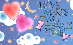 Love Makes Two Hearts One HD wallpaper