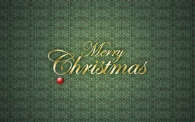 Merry Christmas, green background, vector HD wallpaper