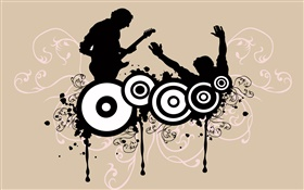 Music theme, bass, speaker, vector design