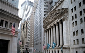 New York Stock Exchange, skyscrapers, USA HD wallpaper