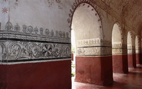 Painted walls, arches, museum