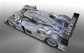 Peugeot 908 Hy supercar HD wallpaper