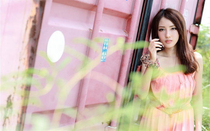 Pink dress Taiwan girl Wallpapers Pictures Photos Images
