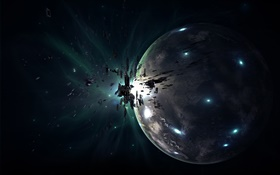 Planet, space junk, spot HD wallpaper