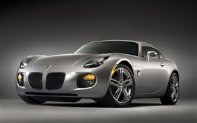 Pontiac silver supercar front view HD wallpaper