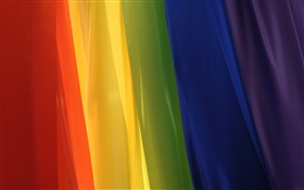 Rainbow cloth, abstract pictures HD wallpaper