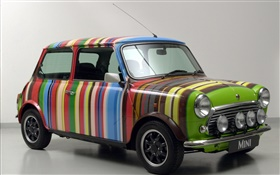 Rainbow stripes MINI car HD wallpaper
