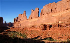 Red rocks, Arches National Park, United States HD wallpaper