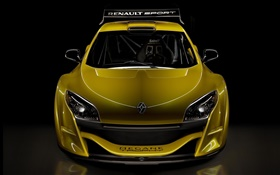 Renault yellow sport car front view HD wallpaper