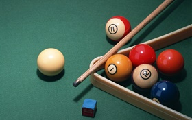 Snooker balls and table surface HD wallpaper