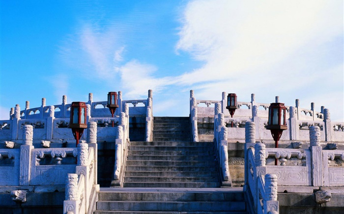 Stairs, clouds, Beijing Forbidden City Wallpapers Pictures Photos Images