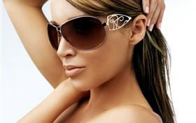 Sunglass girl HD wallpaper