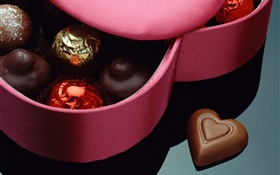 Sweet chocolate, Valentine's Day, romantic gifts HD wallpaper