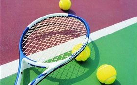Tennis and racket HD wallpaper