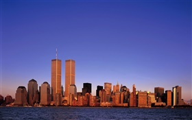 Twin Towers, USA, before 911 HD wallpaper