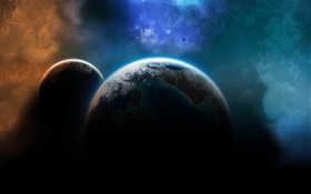 Two planets in the universe HD wallpaper