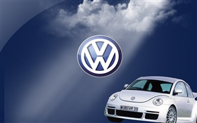 Volkswagen logo, Beetle car HD wallpaper