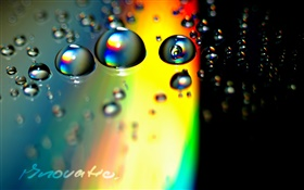 Water drops, colorful background, creative pictures HD wallpaper