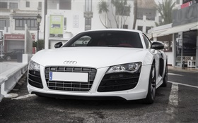 White Audi car front view