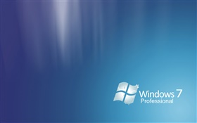 Windows 7 Professional, abstract blue HD wallpaper