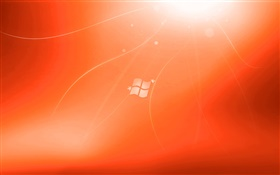 Windows 7 red background creative HD wallpaper